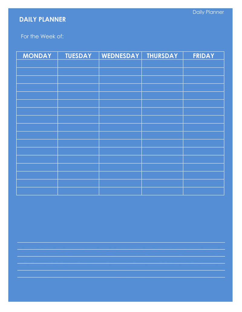 Daily Planner Word Template 10