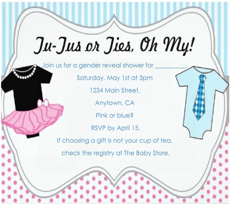 Gender Reveal Invitation Word Template  01