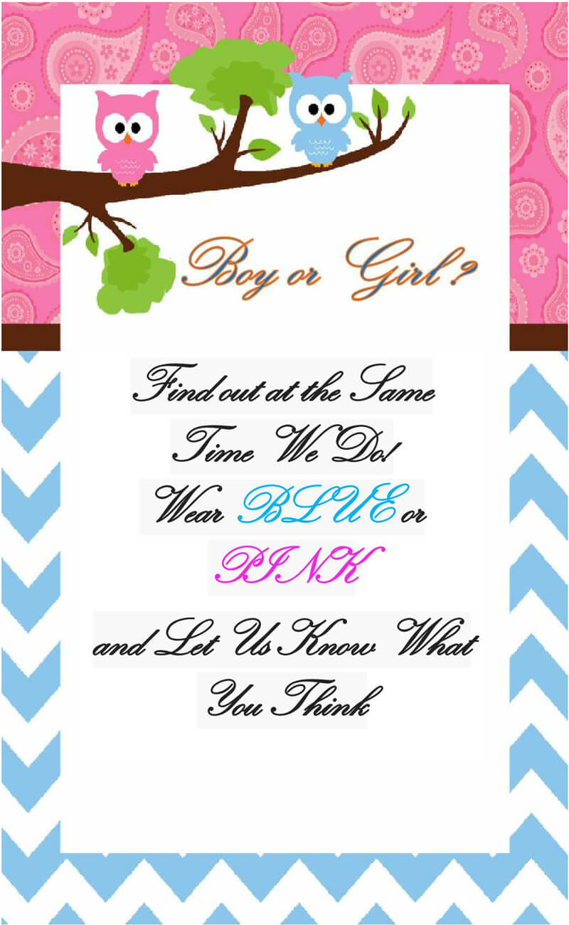 Gender Reveal Invitation Word Template  04