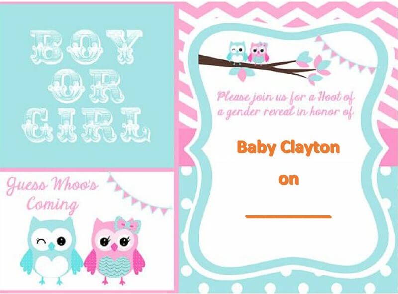 Gender Reveal Invitation Word Template  05