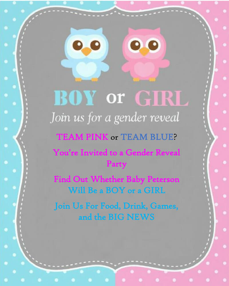 Gender Reveal Invitation Word Template  07