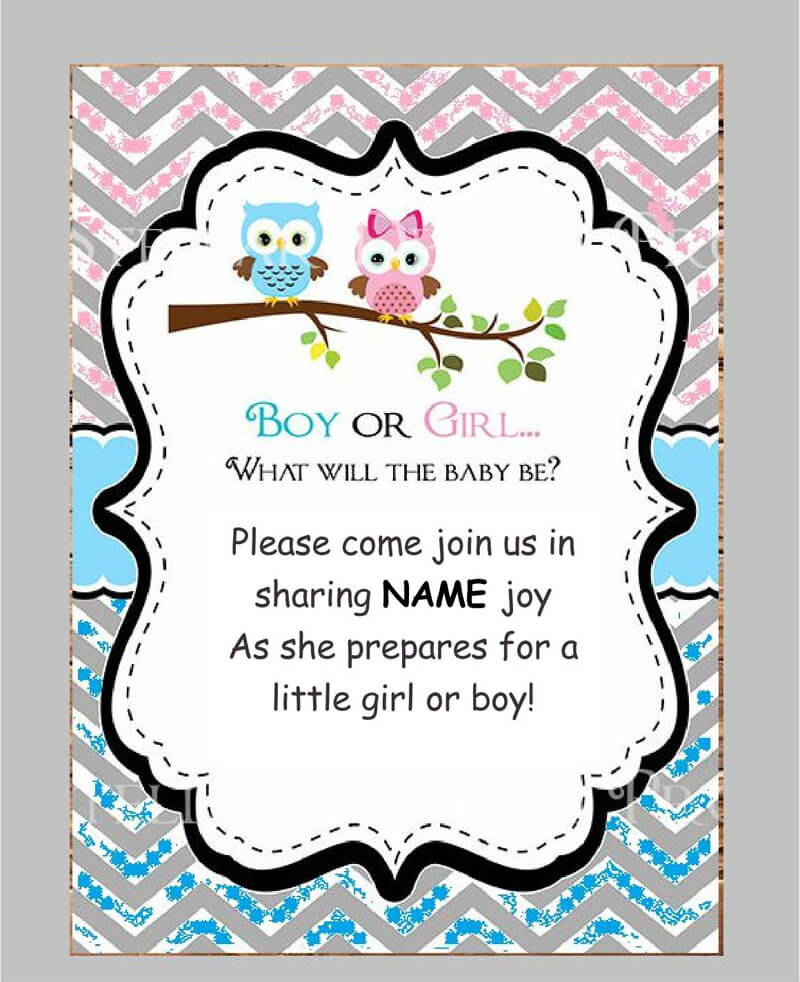 Gender Reveal Invitation Word Template  08