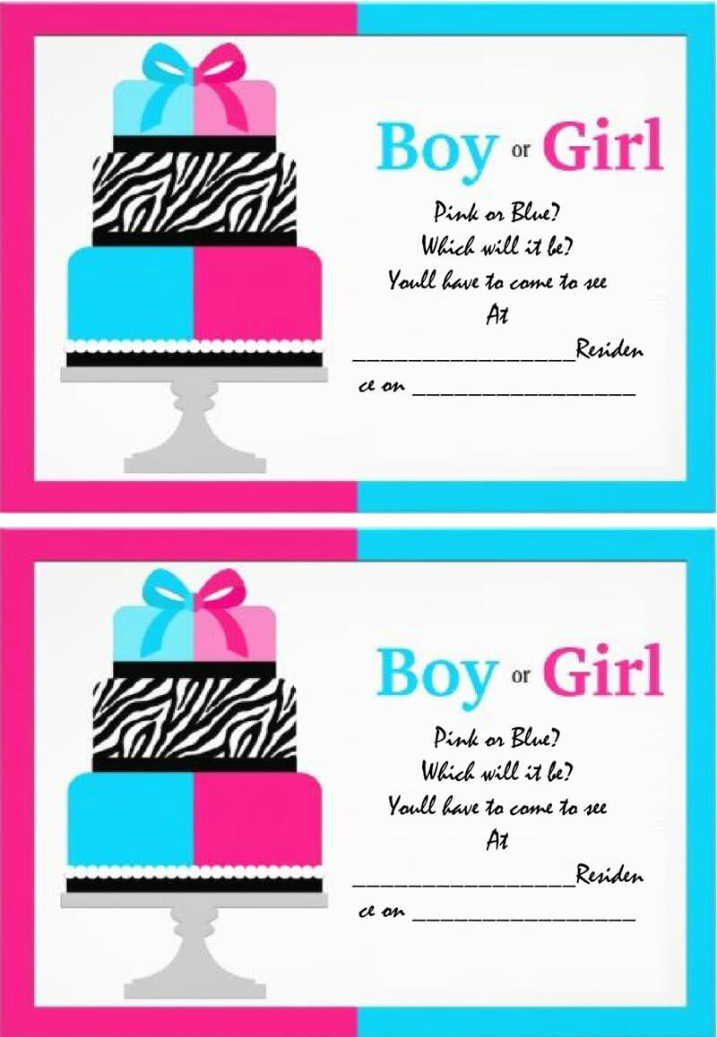 Gender Reveal Invitation Word Template  15