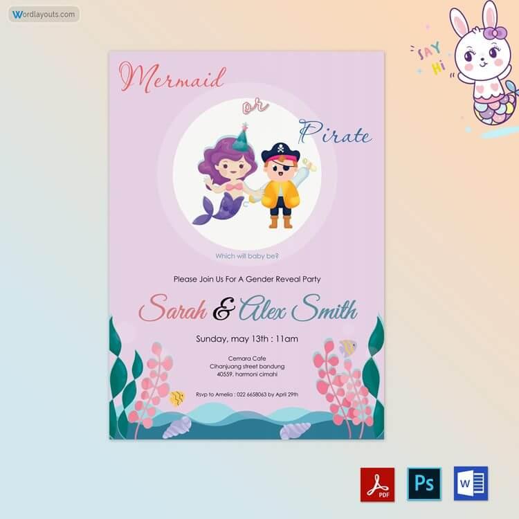 Free Editable Gender Reveal Invitation