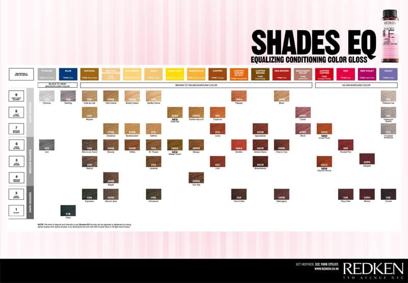 Redken Shades EQ Color Chart 07