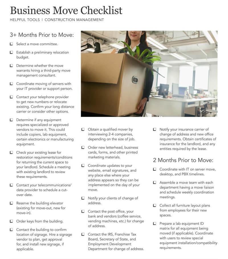 The Business Move Checklist