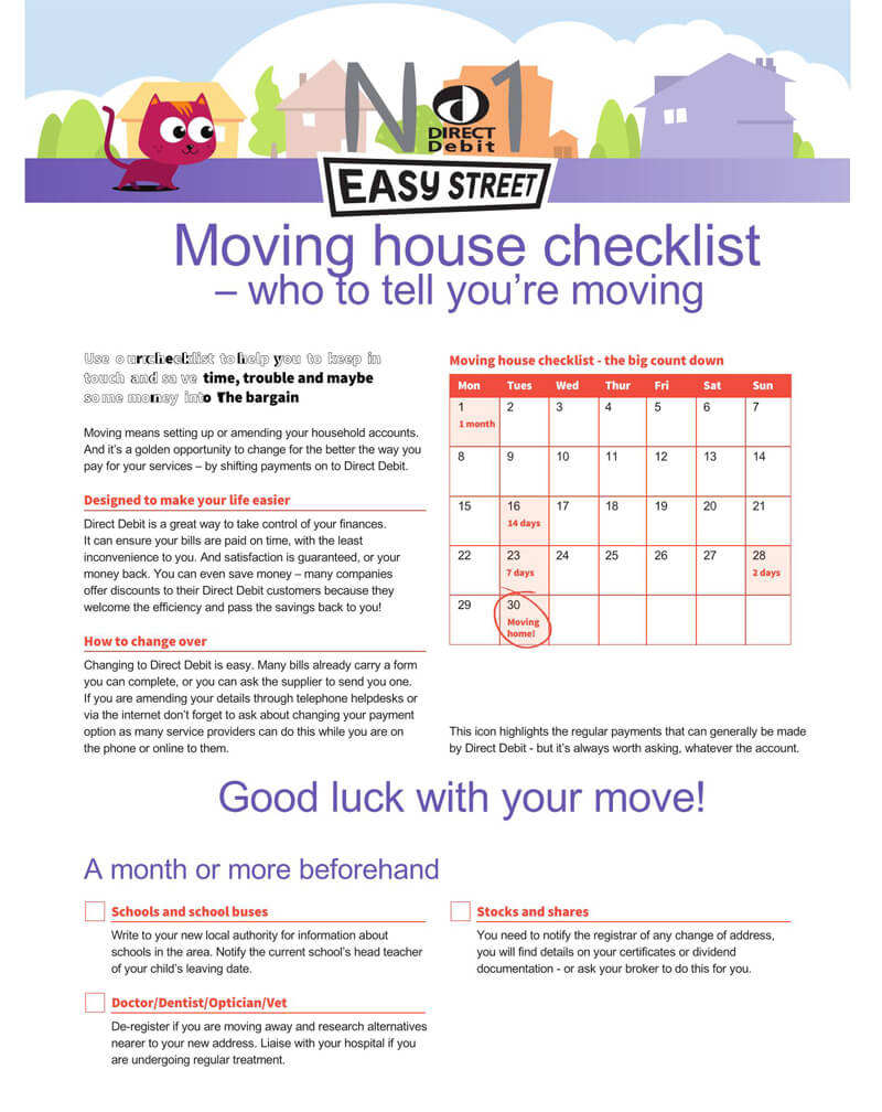 The Moving House Checklist