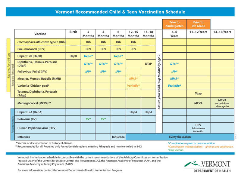 Vaccination Schedule PDf Chart 03