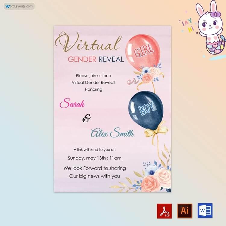 Virtual Gender Reveal Template
