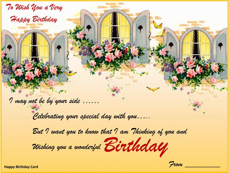 Birthday Card Template 01