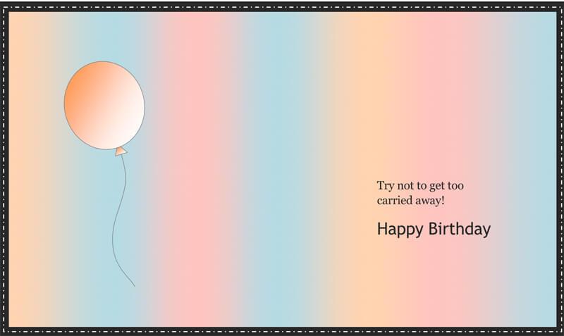 Birthday Card Template 02