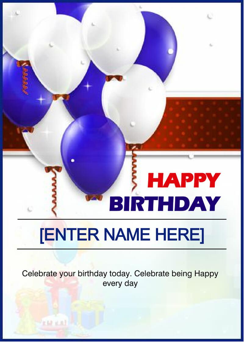 Birthday Card Template 04