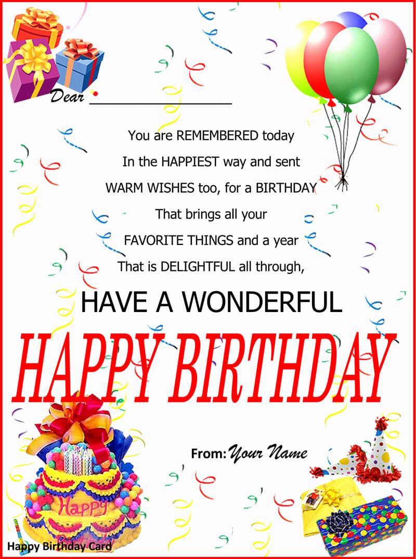 Birthday Card Template 09