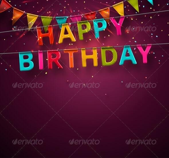 Birthday Card Template 12