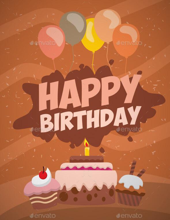 Birthday Card Template 15