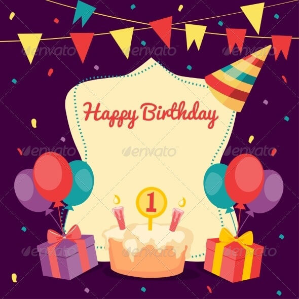 Birthday Card Template 16