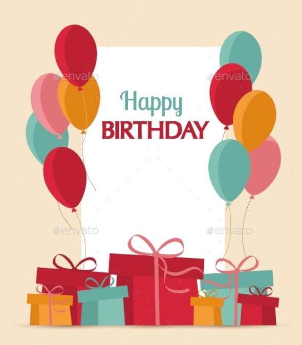 Birthday Card Template 19