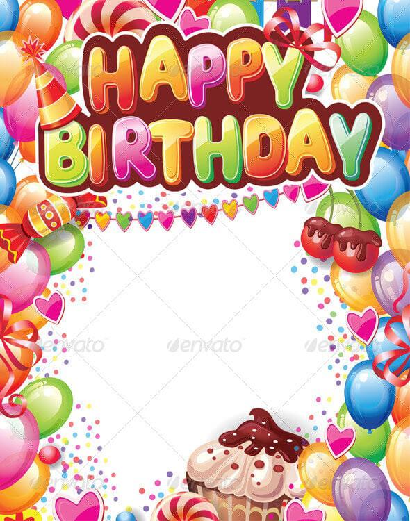 Birthday Card Template 22