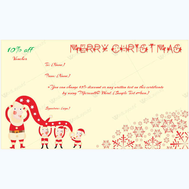 Christmas Gift Certificate Template 01
