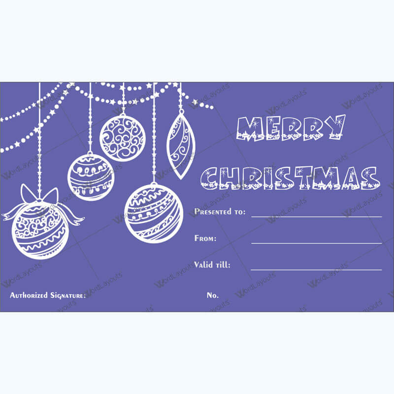 Christmas Gift Certificate Template 33