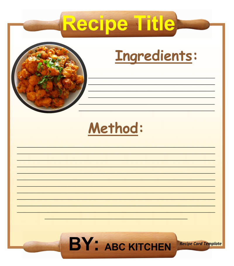 Cookbook Recipe Template 01