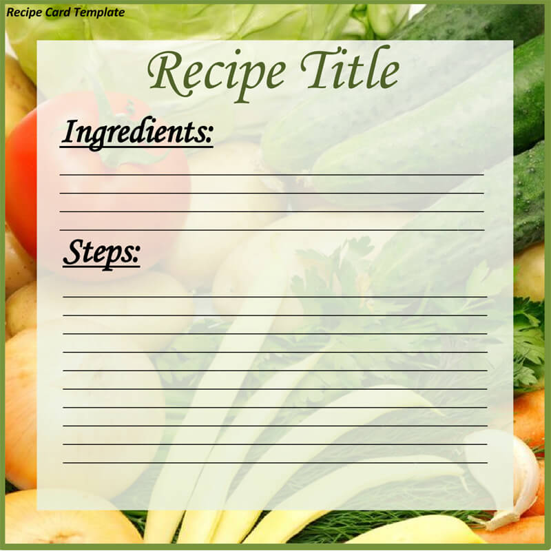 Cookbook Recipe Template 02
