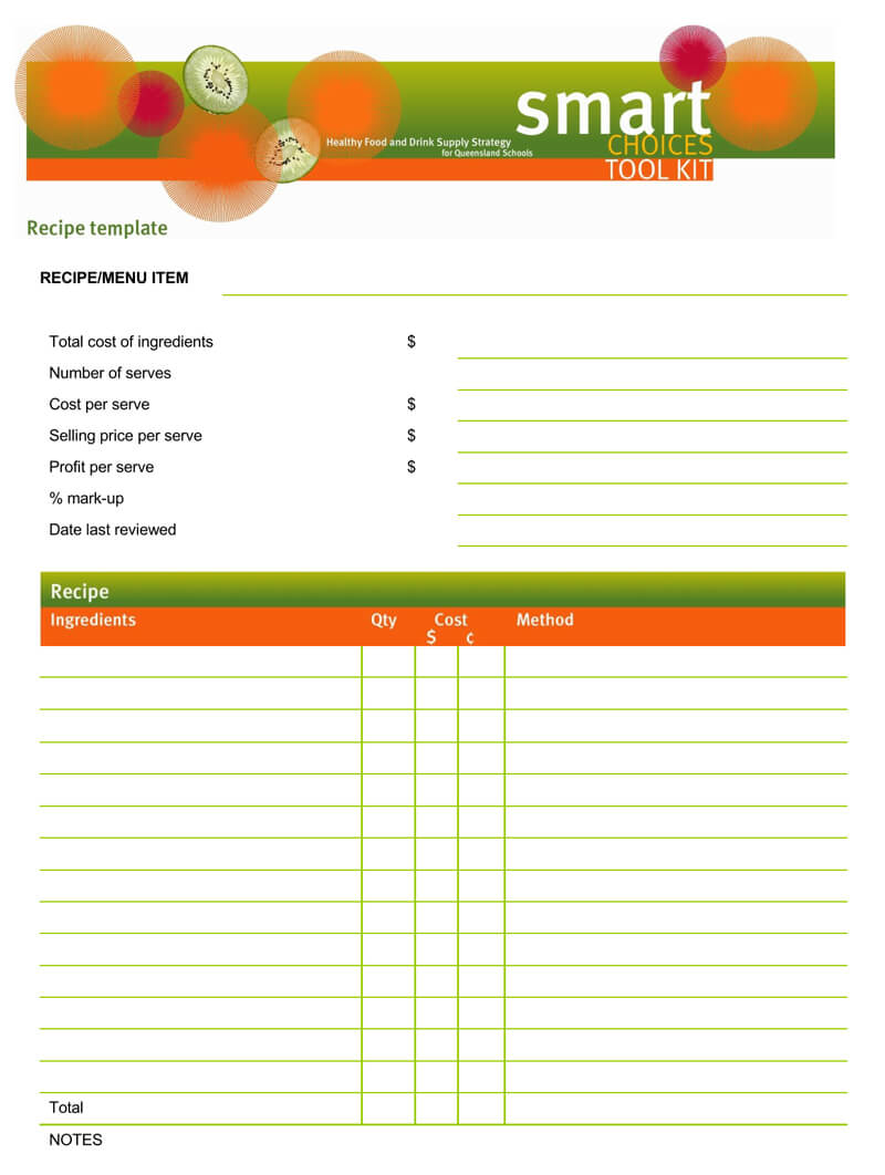 Cookbook Recipe Template 03