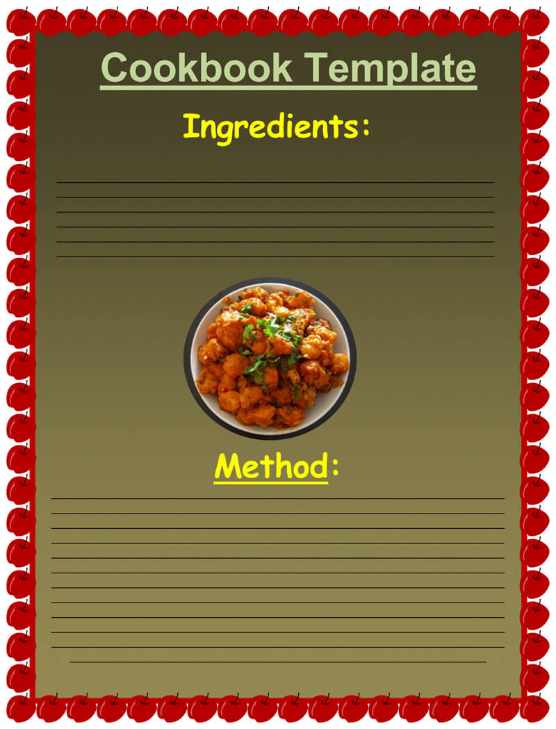 Cookbook Recipe Template 05