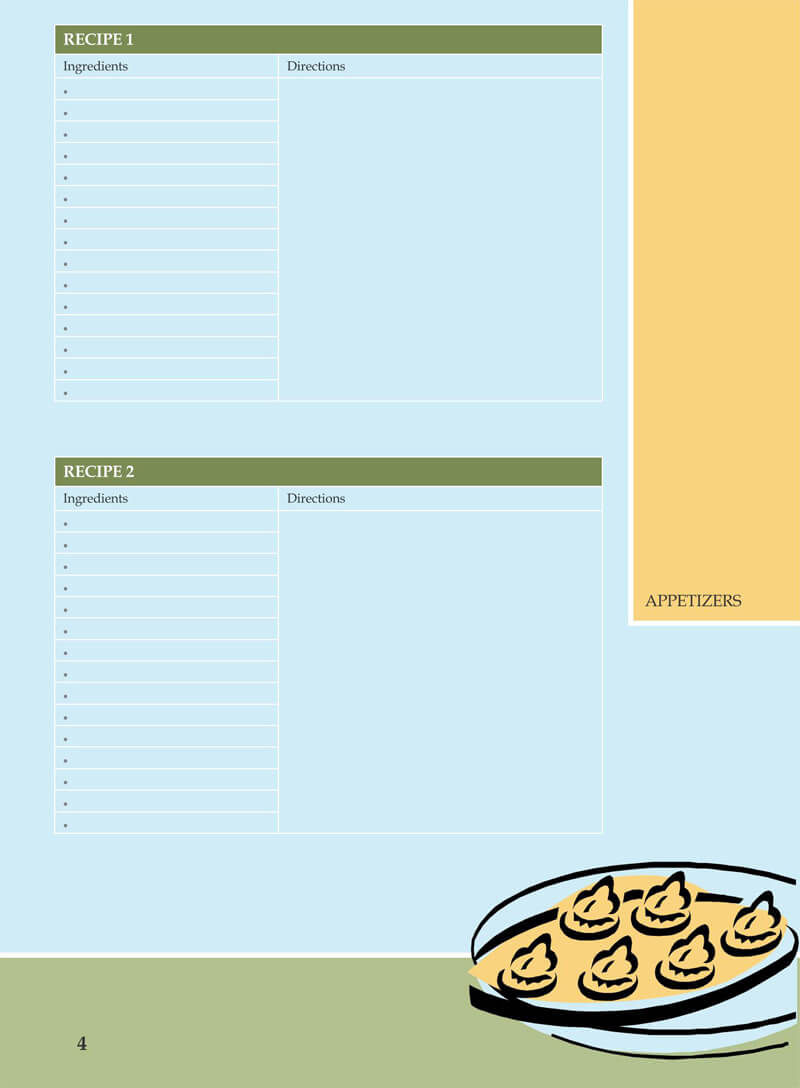 Cookbook Recipes Template