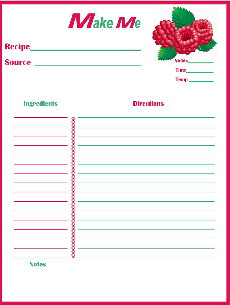 Cookbook Template 08