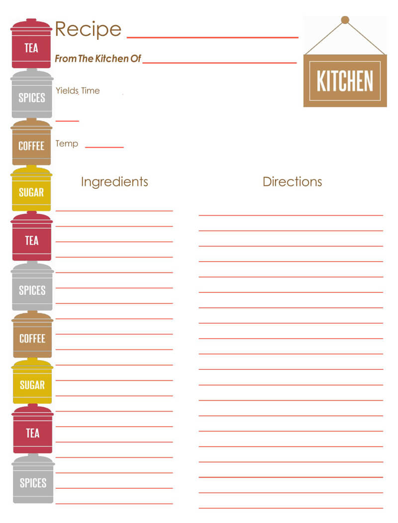 Cookbook Template 10