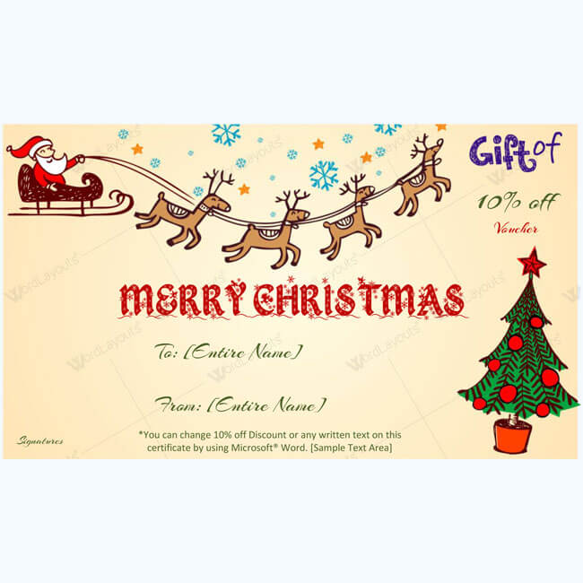 Christmas Gift Certificate Template 13