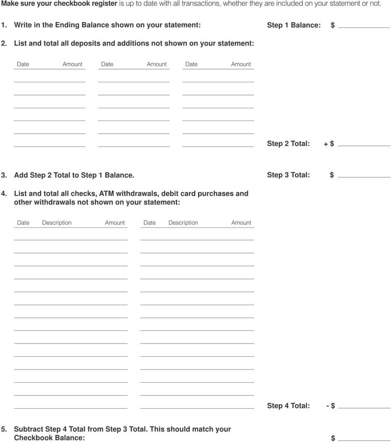 Free Checkbook Register Template 10