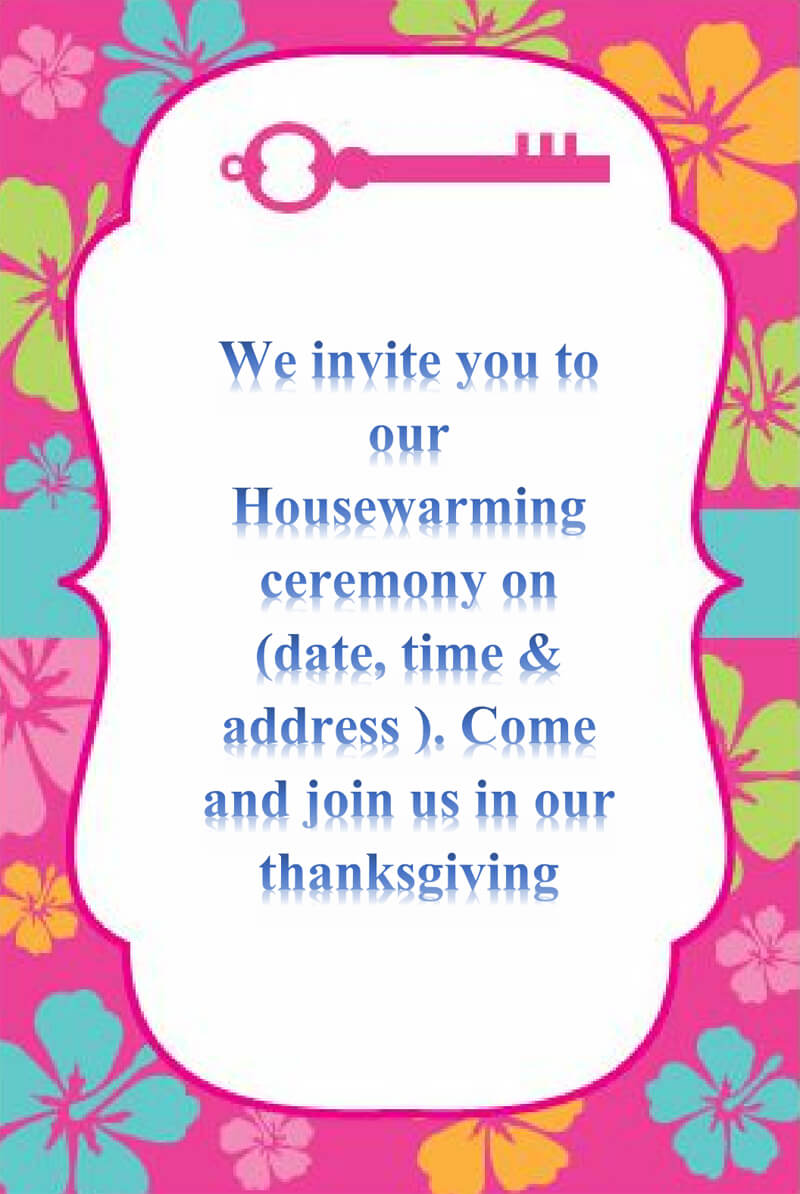 Housewaming Party Invitation Template 03