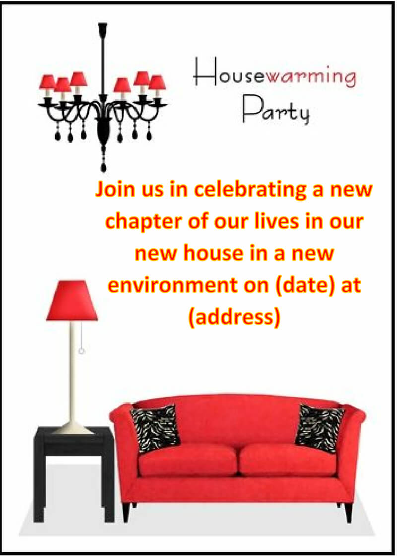 Housewaming Party Invitation Template 04