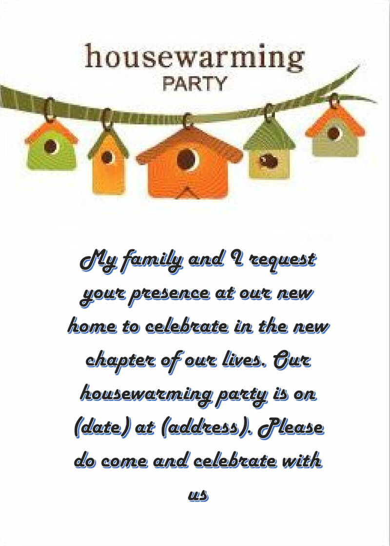 Housewaming Party Invitation Template 05