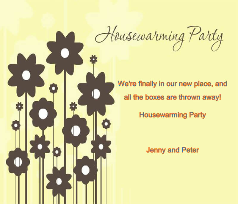 Housewaming Party Invitation Template 14