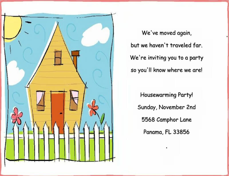 Housewaming Party Invitation Template 15