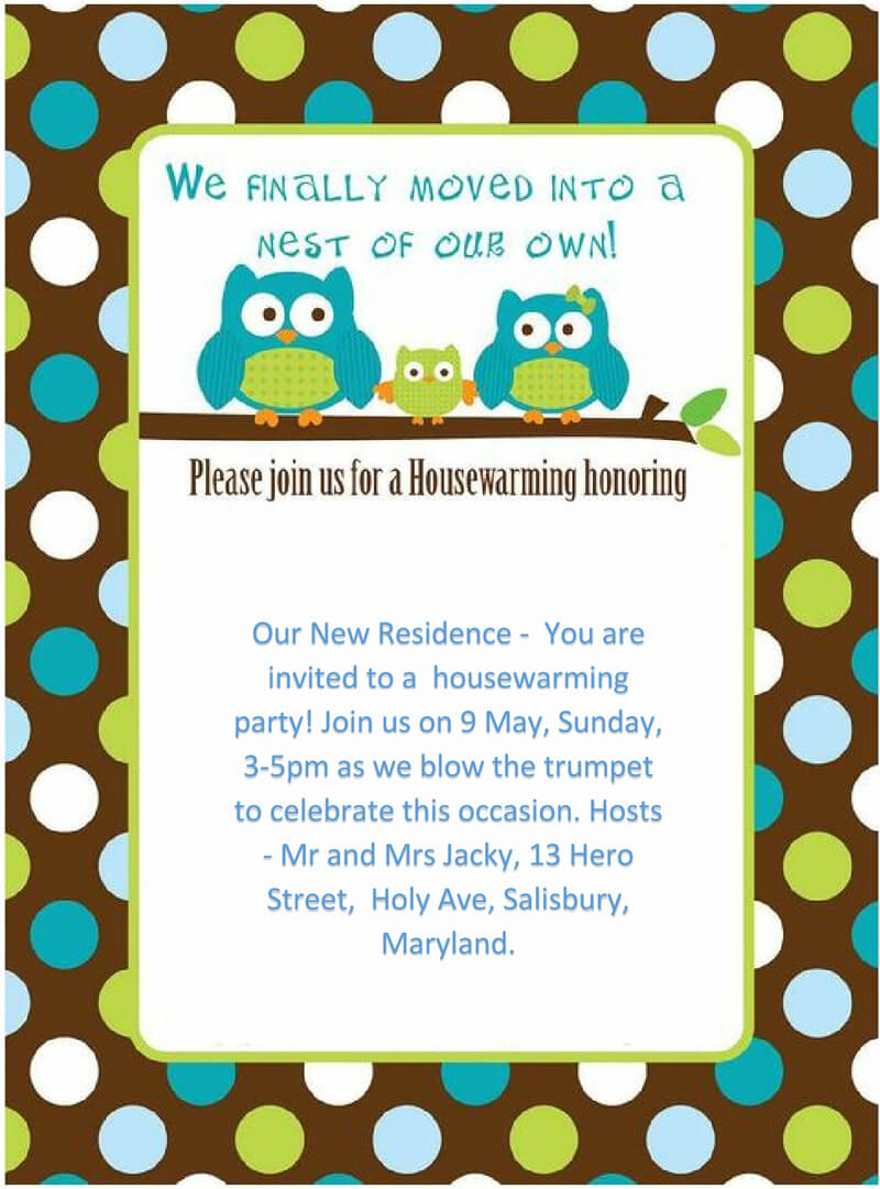 Housewaming Party Invitation Template 22