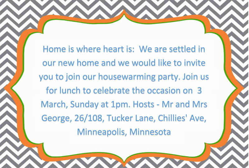 Housewaming Party Invitation Template 25