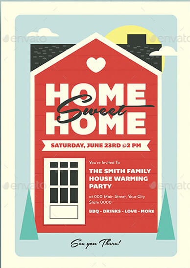 Housewarming Party Invitation Card 01