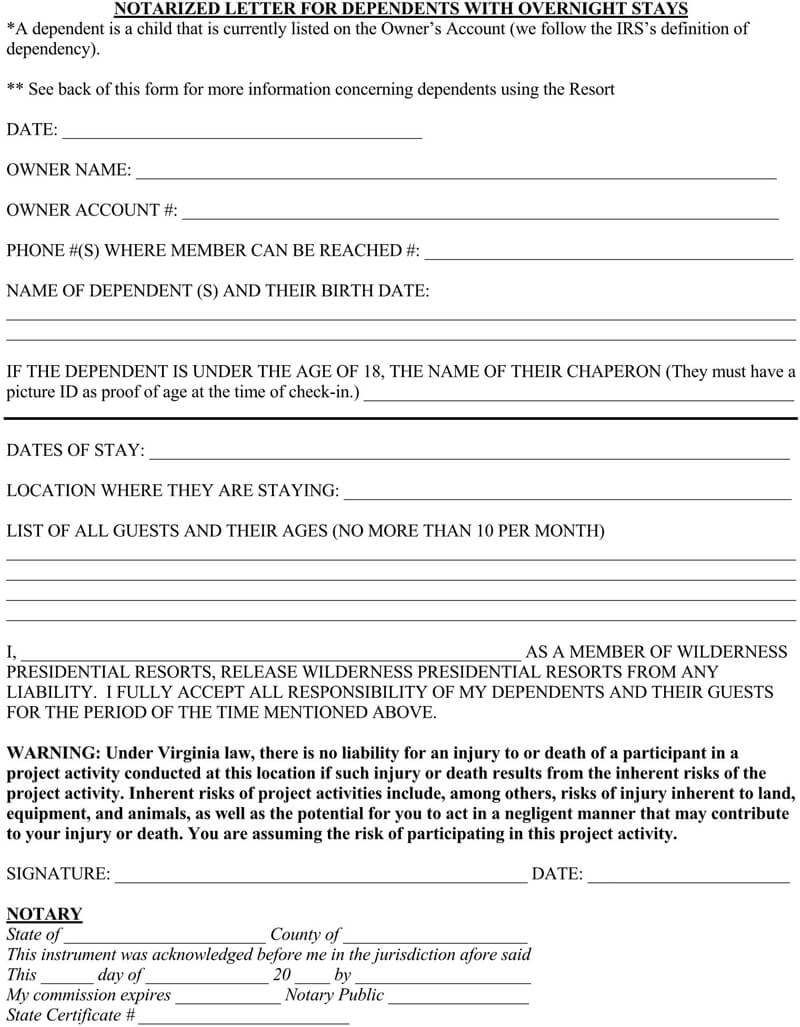 Notarized Letter Template 01