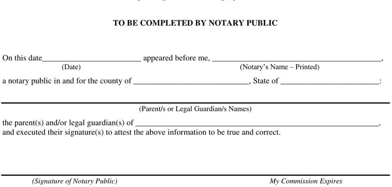 Notarized Letter for Student Template