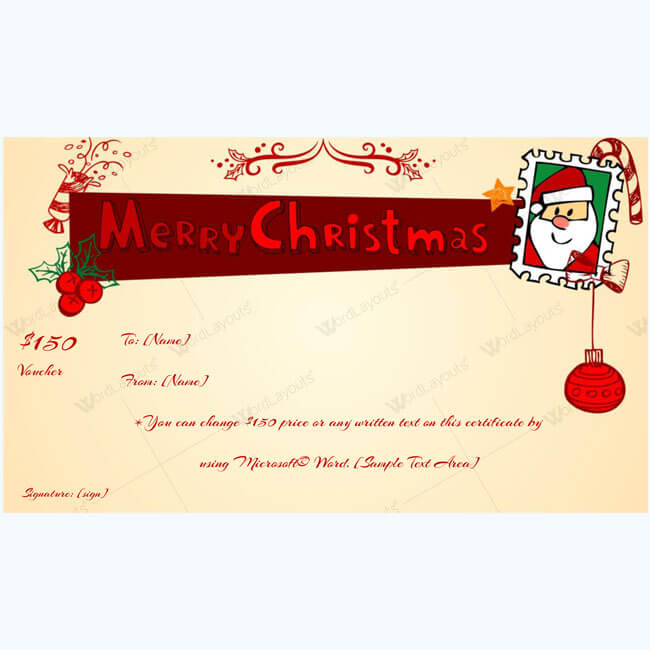 Christmas Gift Certificate Template 11