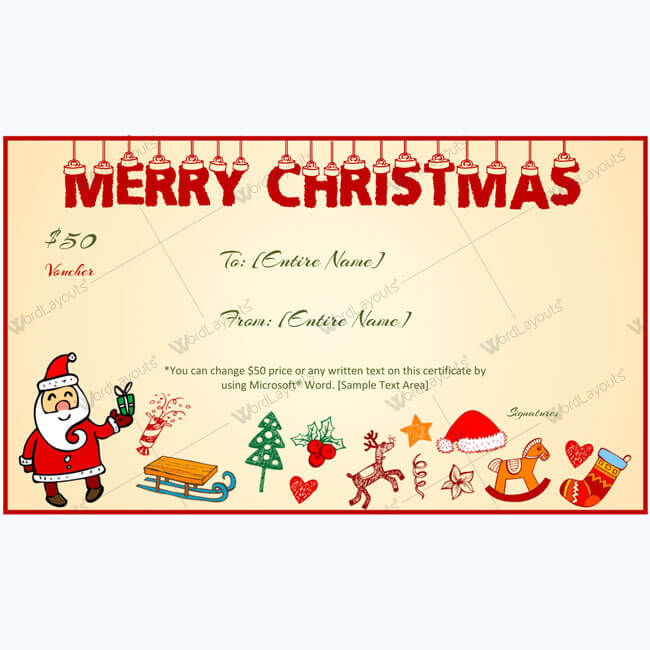 Christmas Gift Certificate Template 15
