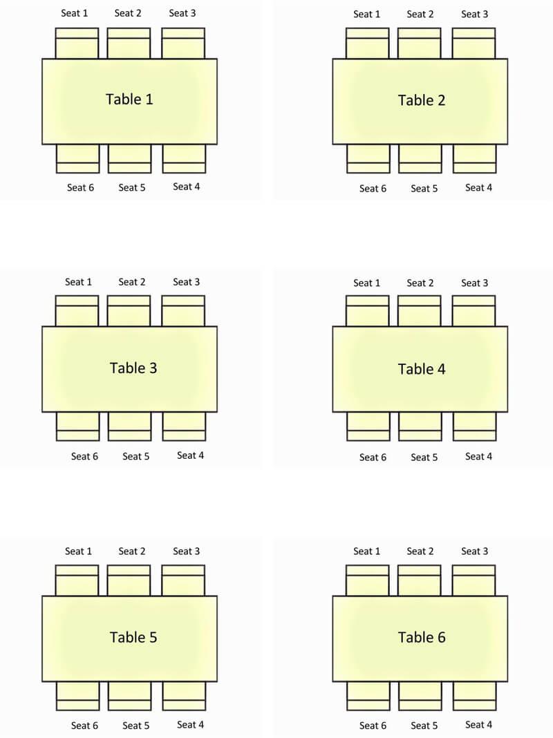 Square Wedding Seating Chart