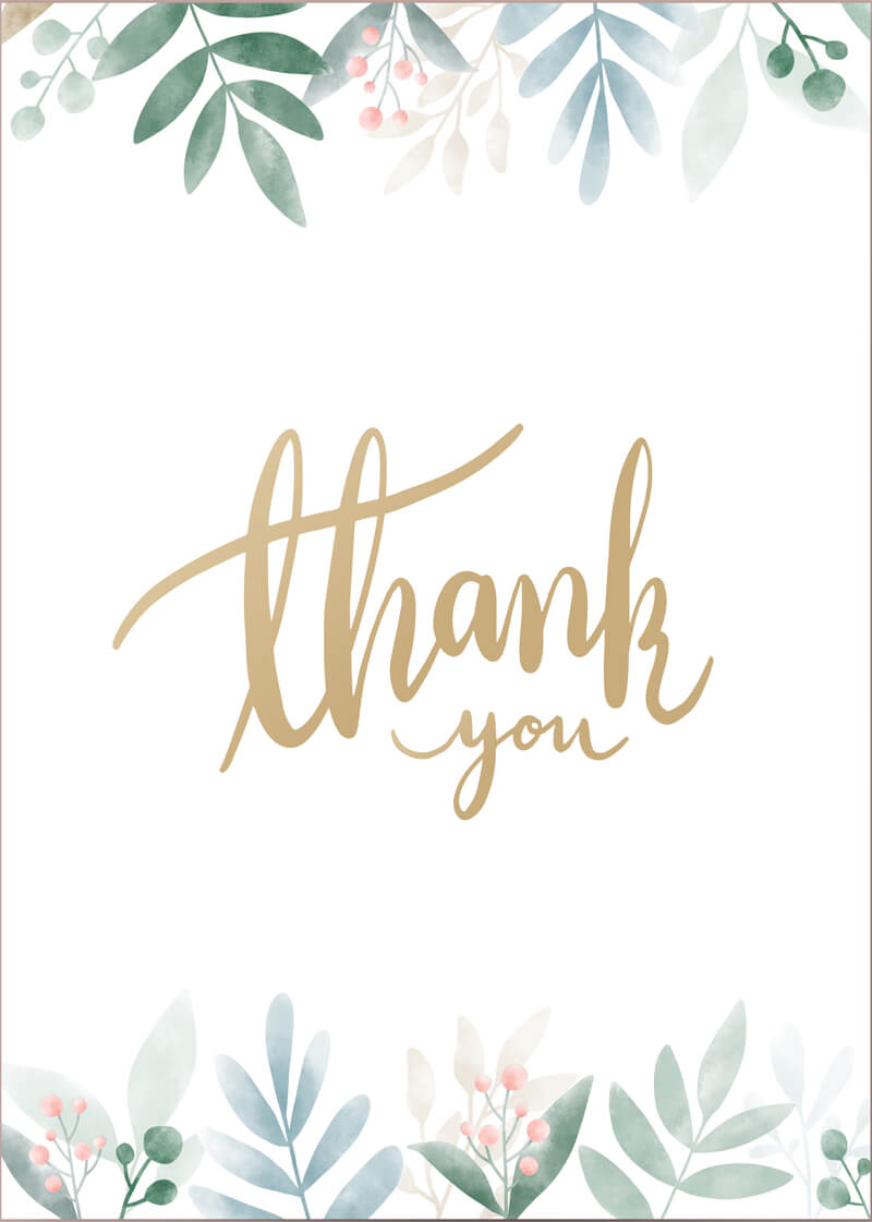Thank You Card 13