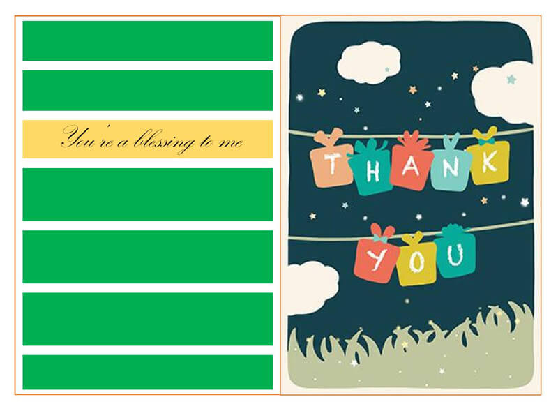 Thank You Card Template 01