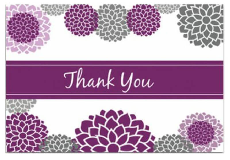 Thank You Card Template 25