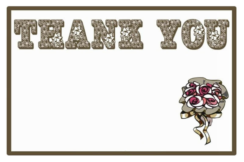 Thank You Card Template 27